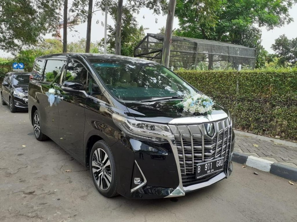 sewa weental wedding car alphard, wedding car jakarta